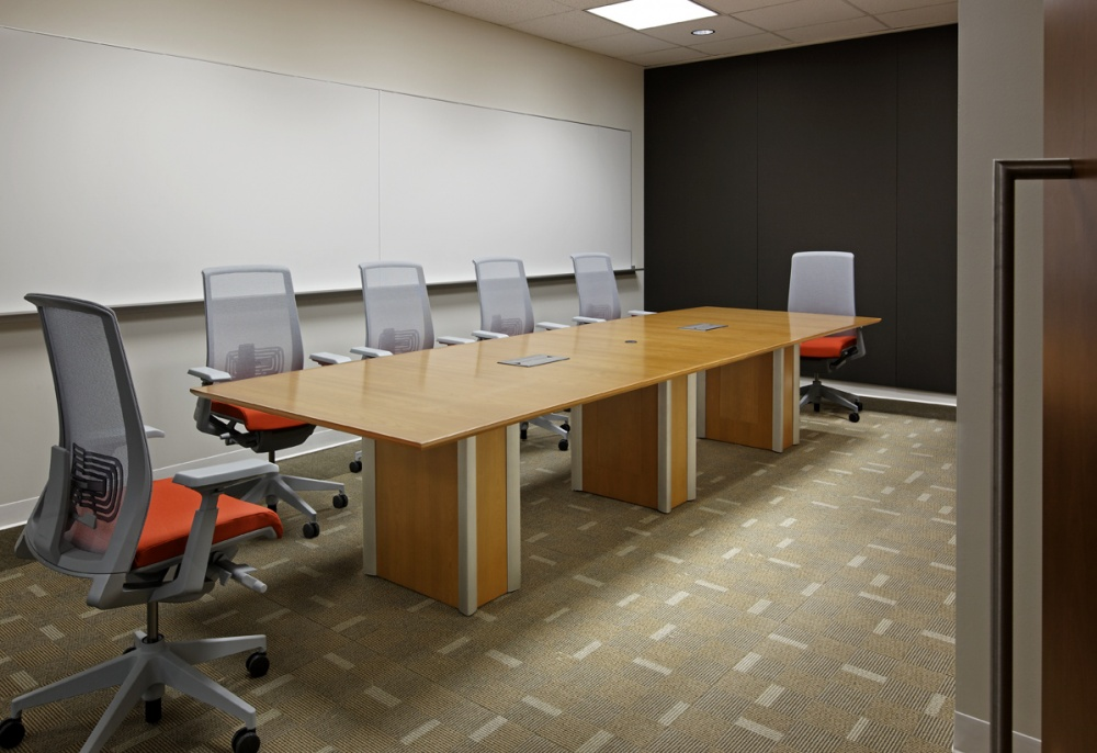 Wooden table for office conference room